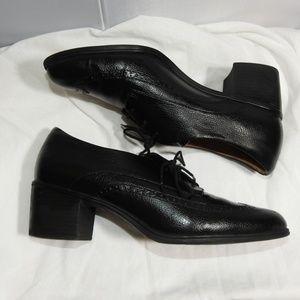 Naturalizer Herlie Wingtip Oxford Size 10 Black